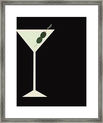 Martini Framed Print by Julia Garcia
