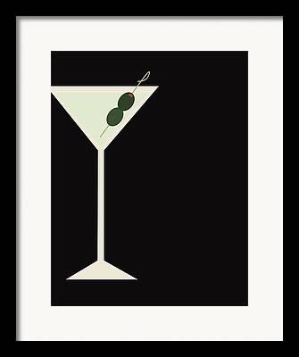 Alcohol Glasses Framed Prints