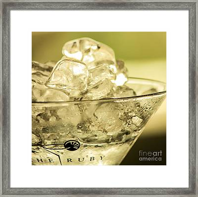 Martini On Ice Framed Print by Rene Triay Photography