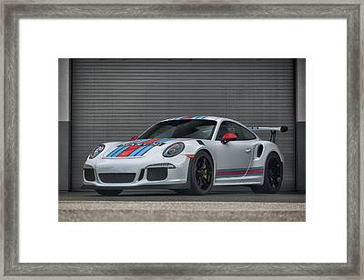 Framed Print featuring the photograph #martini #porsche 911 #gt3rs #print by ItzKirb Photography