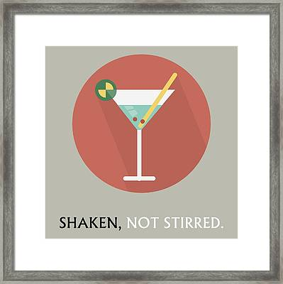 Martini Poster Print - Shaken, Not Stirred Framed Print by Beautify My Walls