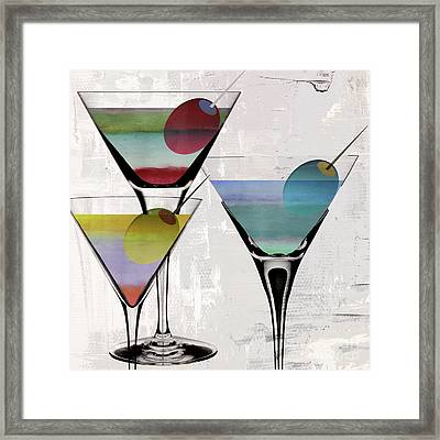 Martini Prism Framed Print by Mindy Sommers