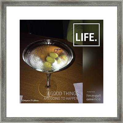 Martini - Quote Framed Print
