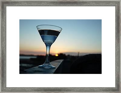 Martini Sunset Framed Print by John Finch