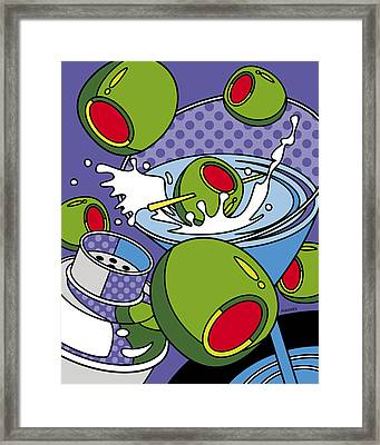 Martini Time Framed Print by Ron Magnes
