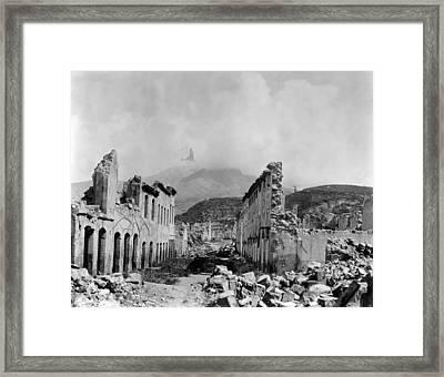 Martinique: Ruins Framed Print by Granger