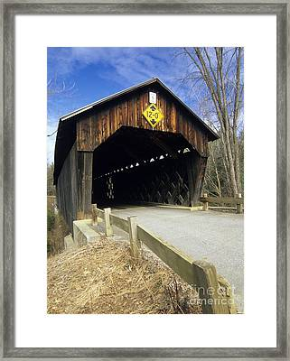 Martinsville Covered Bridge- Hartland Vermont Usa Framed Print by Erin Paul Donovan