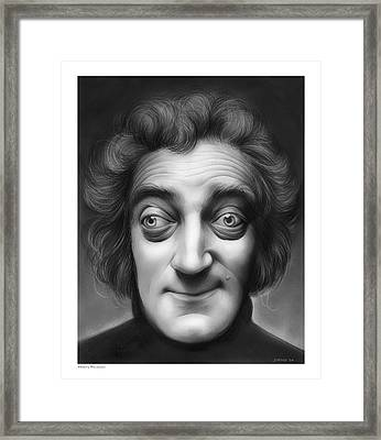 Marty Feldman Framed Print by Greg Joens