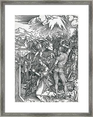 Martyrdom Of Saint Catherine Framed Print by Albrecht Durer