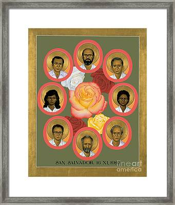 Martyrs Of The Jesuit University - Rlmju Framed Print