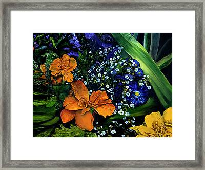Marty's Gift Basket Framed Print