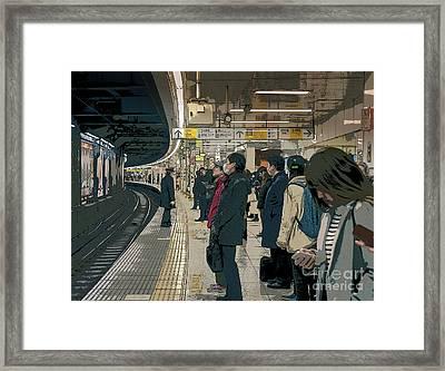 Marunouchi Line, Tokyo Metro Japan Poster 2 Framed Print