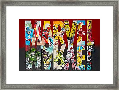 Marvel Hero's And Villain's  Framed Print by James Holko