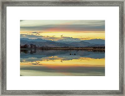 Framed Print featuring the photograph Marvelous Mccall Lake Reflections by James BO Insogna