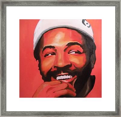 Marvin Gaye Framed Print by Matt Burke