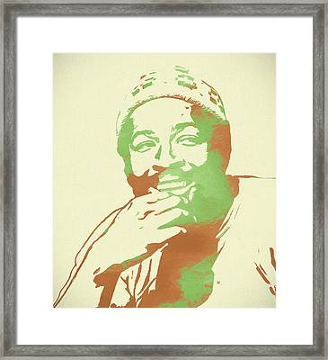 Marvin Gaye Pop Art Framed Print