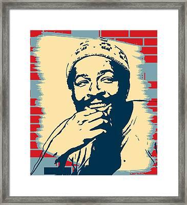 Marvin Gaye Pop Art Poster Framed Print by Dan Sproul