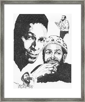 Marvin Gaye Tribute Framed Print