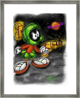 Marvin The Martian Framed Print by Russell Pierce
