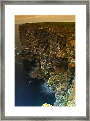 Marwick Head Orkney Scotland Framed Print by Gabor Pozsgai