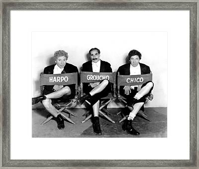 Marx Brothers - Harpo Marx, Groucho Framed Print by Everett