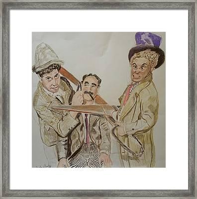 Marx Brothers  Framed Print