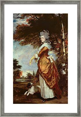 Mary Amelia First Marchioness Of Salisbury Framed Print by Sir Joshua Reynolds