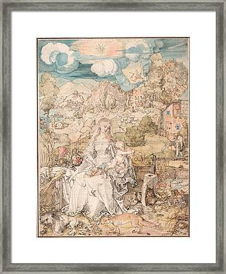 Mary Among A Multitude Of Animals Framed Print