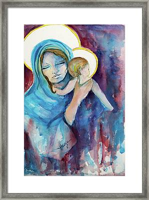 Mary And Baby Jesus Framed Print by Mary DuCharme