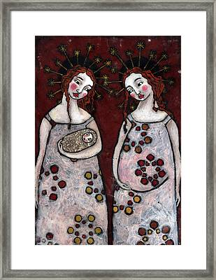 Mary And Elizabeth 2 Framed Print by Julie-ann Bowden