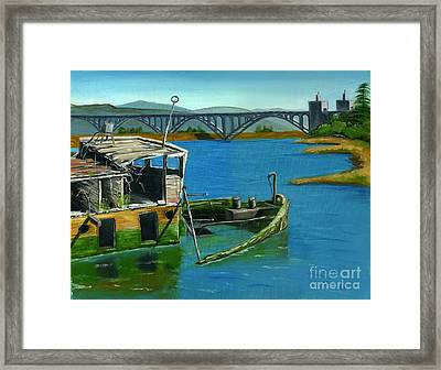 Framed Print featuring the painting Mary And Isaac by Gail Finn