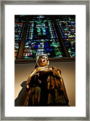 Mary And Jesus Framed Print by Dean Harte