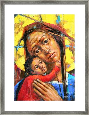 Mary And Son Framed Print by Michal Kwarciak