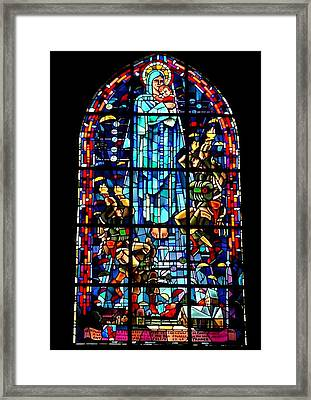 Mary And The Paratroopers Framed Print
