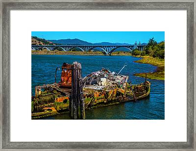 Mary D Hume Ship Wreck Framed Print