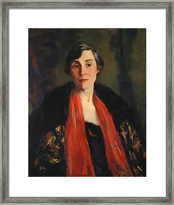 Mary Fanton Roberts Framed Print by Robert Henri
