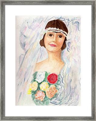 Mary - Grandmother  Framed Print by Debbie Davidsohn