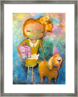 Mary Had A Little Dog Framed Print