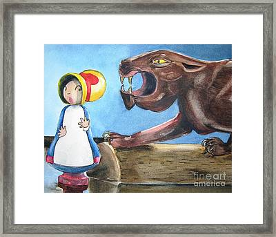 Mary Had A Little Panther Framed Print