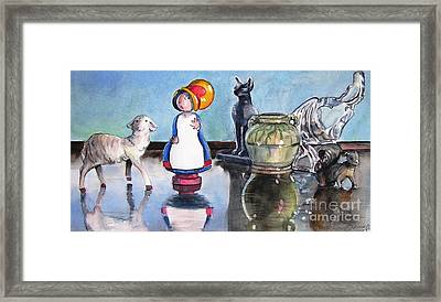 Mary Had Many Little Things Framed Print