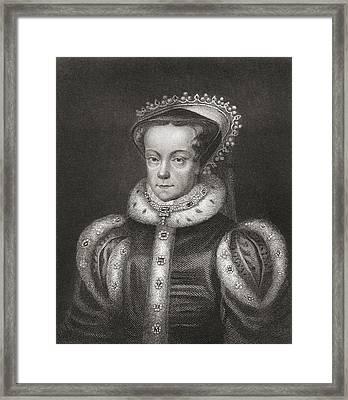 Mary I, 1516 Framed Print