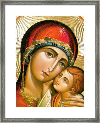 Mary Icon Framed Print by Munir Alawi