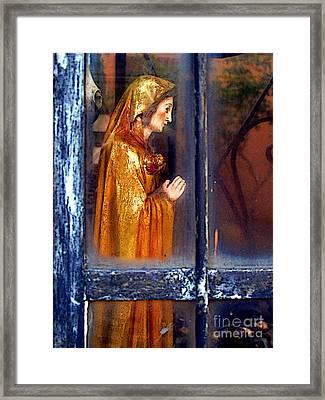 Mary In Prayer Framed Print