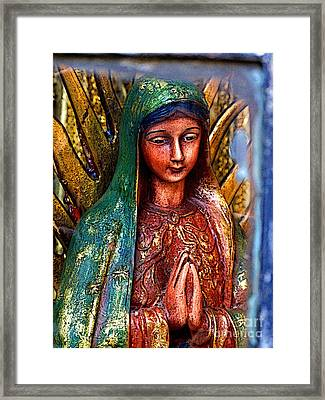 Mary In Repose Framed Print by Mexicolors Art Photography