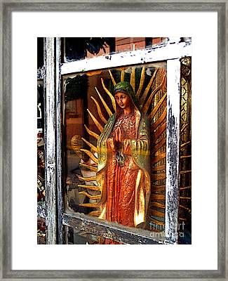 Mary In The Sun Framed Print by Mexicolors Art Photography