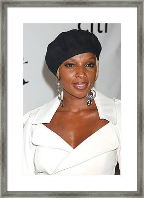 Mary J. Blige At Arrivals For The 4th Framed Print by Everett