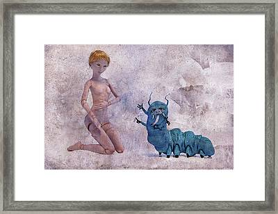 Mary Jane And The Blue Hooka Pooka Betsy Knapp Framed Print