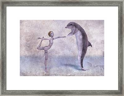 Mary Jane And The Dolphin 101f Betsy Knapp Framed Print