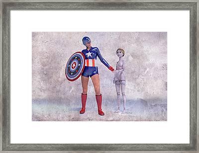 Mary Jane Meets A Superhero 101d Betsy Knapp Framed Print