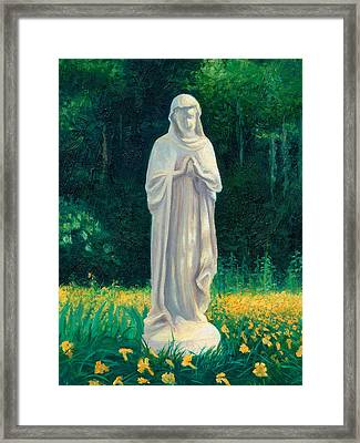 Framed Print featuring the painting Mary by Joe Winkler